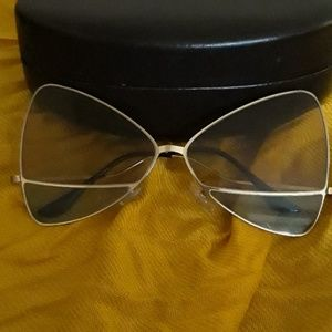 Unique Gold frame two toned Butterfly Shades